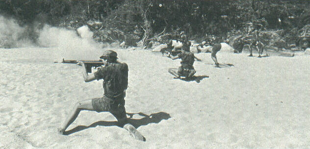 Selous Scouts rehearsing immediate action drills.